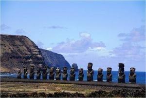 A Ilha de Páscoa é, sem dúvidas, um belo cartão postal.