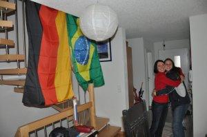 Nossa aluna Érica e sua hostmother alemã