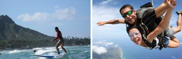 Luciana Lima aproveitando muito o Havaí!