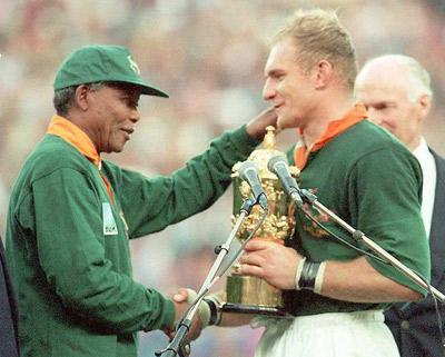 Mandela usou o rugby para unir a nação