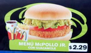 Mc Donalds feito com abacate