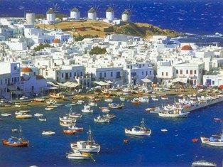 Mykonos, na Grécia