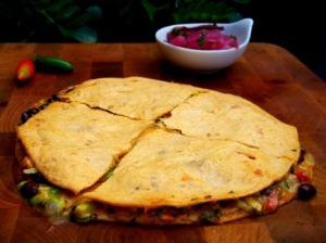 Quesadilla com abacate