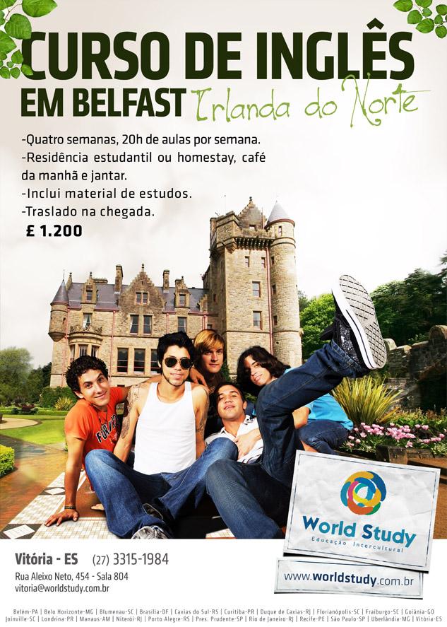 Super oportunidade de estudar inglês na Irlanda do Norte, UK
