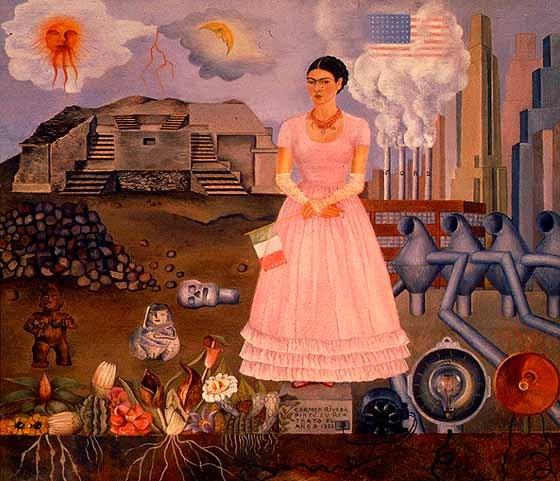 Auto-retrato na fronteira entre México e Estados Unidos (1932)