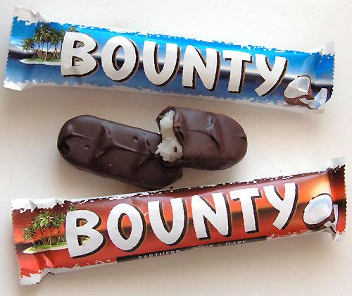 Reino Unido: o Bounty tem, com certeza, milhares e milhares de fãs pelo mundo todo. Recheado com coco e coberto de chocolate ao leite.