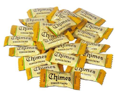 A Chimes Mango Ginger Chews, da Indonésia, é uma balinha feita com gengibre cultivado em solo vulcânico e tem um gosto levemente picante.