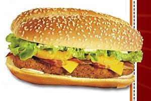 Nova Zelândia: frango empanado, queijo, bacon, dois tipos de alface e abacaxi, no pão com gergelim (Burger King)