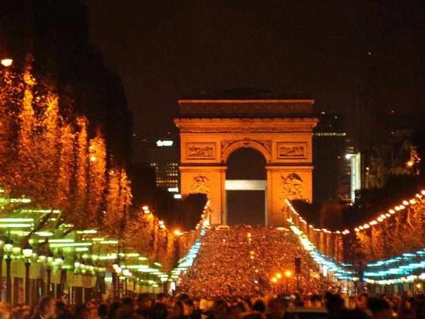 Champs Elysee em Paris, na França