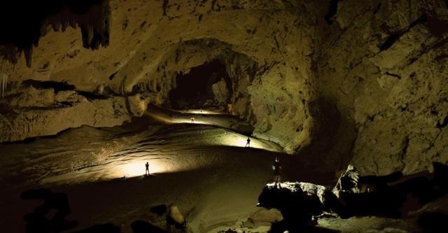 Dentro da caverna de Kabal, que faz parte do sistema Chiquibil, em Belize.